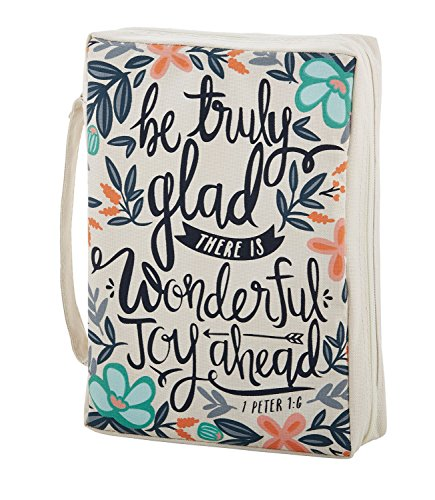 Faithworks Canvas Bible Book Cover, Be Truly Glad, Be