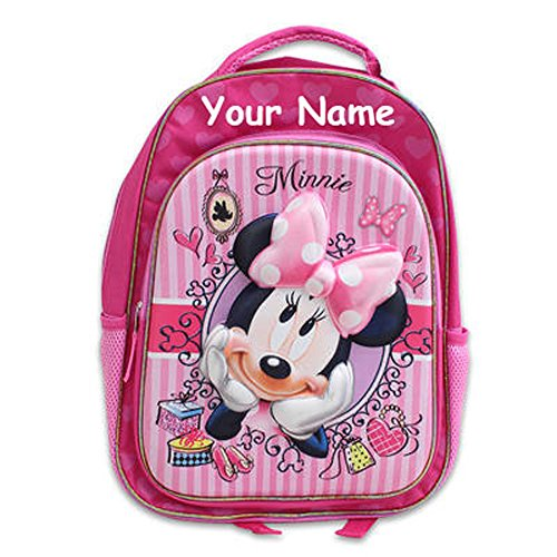 [Personalized Disney Minnie Mouse Back to School Backpack Book Bag - 16 Inches] (Santa Suites)