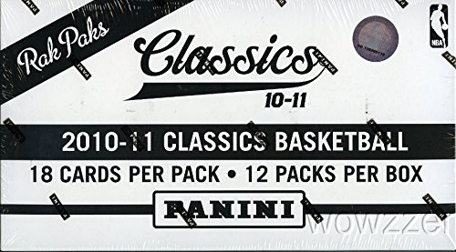 Jumbo Box - 2010/11 Panini Classics NBA Basketball MASSIVE Jumbo Rack Box with 216 Cards! Look for RC Cards and Autographs from John Wall,Jeremy Lin,Paul George and all the Top 2010 NBA Draft Picks !