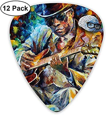 Pintura al óleo Jazz Singer Guitarra Púas Plectrums Guitarra acústica Ukulele Púas 0.46 mm,0.73 mm,0.96 mm,paquete de 12: Amazon.es: Instrumentos musicales