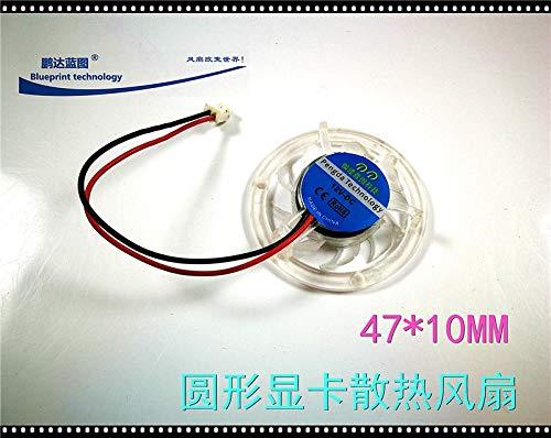 REFIT 4710 4.7CM cm Transparent 4710MM Round Graphics 12V DC Cooling Fan