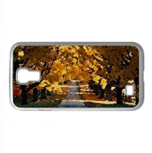 Autumn Trees Along The Road Watercolor style Cover Samsung Galaxy S4 I9500 Case (Autumn Watercolor style Cover Samsung Galaxy S4 I9500 Case)