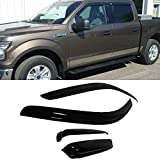 VioletLisa 4pcs Front Rear Smoke Sun/Rain Guard Vent Shade Window Visors For 97-03 Ford F-150 97-99 Ford F-250 Light Duty Super/Extended Cab With 2 Half Size Rear Doors