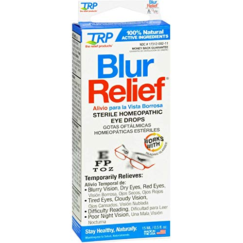 (TRP Blur Relief Homeopathic Sterile Eye Drops, 0.5 Fluid Ounces each (Value Pack of)