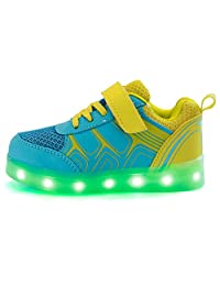 POMT Kid Girls Boys LED Light Sneakers Kids with USB Charging Light Flashing for Children Casual Shoes