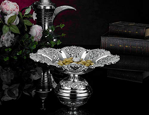 (Large Silver Plated Round Chocolate Snack Bowl)