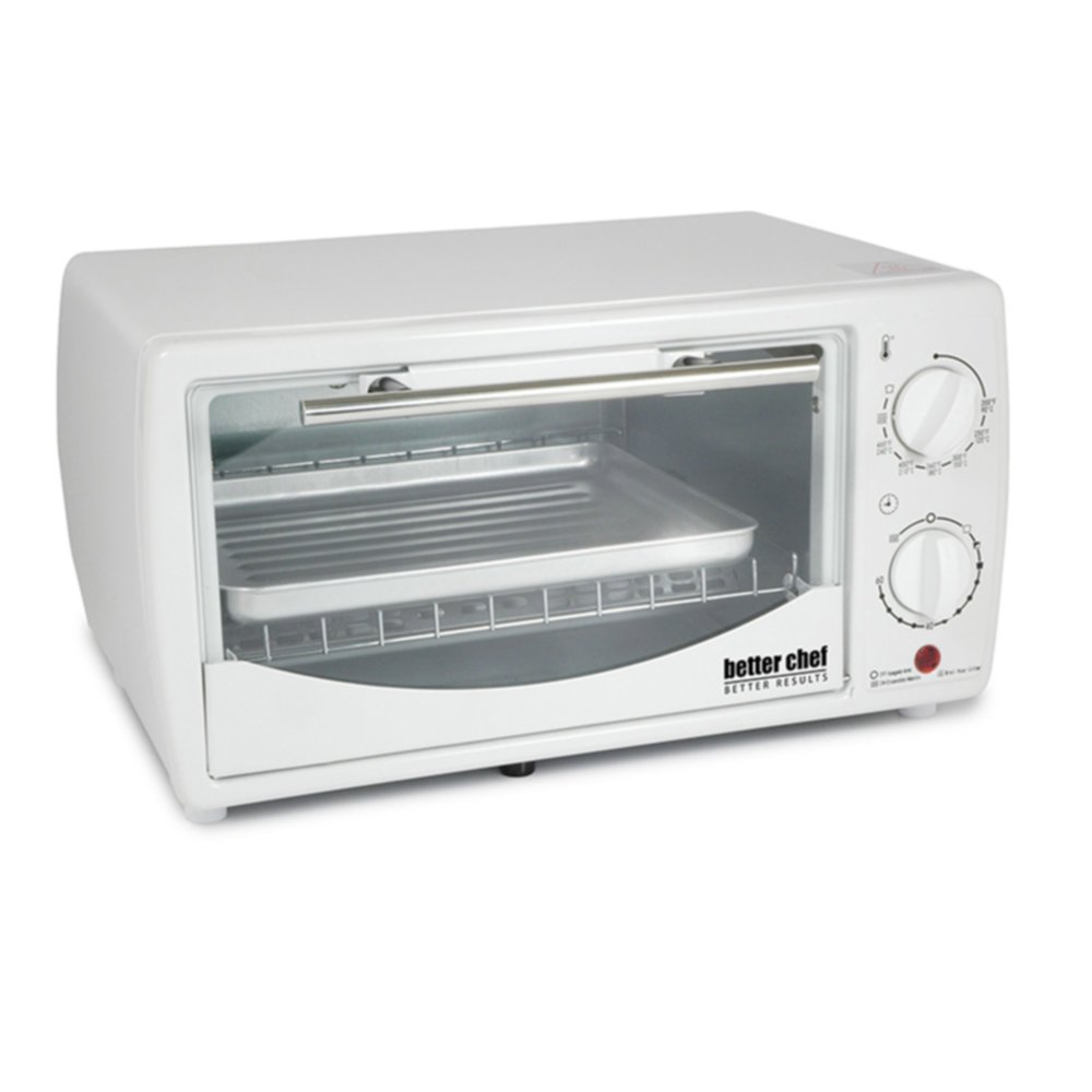 Better Chef IM-255W 9-Liter Toaster Oven Broiler for up to 4-Slices White Home & Garden