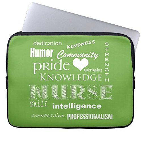 13 13.3-13.8 Inch Computer Case for Laptop Nurse Pride Attributes Lime Green Waterproof Neoprene Laptop Sleeve Case Bag Notebook Bag for MacBook Pro 13.3-inch Retina Display MacBook Air 13.3 (Lime Green Laptop Case 13)