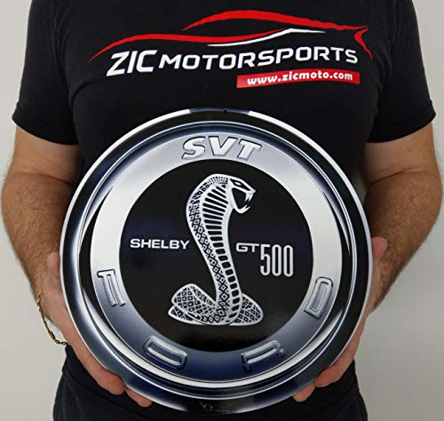 - ZIC Motorsports Ford SVT Shelby Cobra Super Snake GT500 Gas Cap Heavy Duty Metal Garage Wall Sign - 12