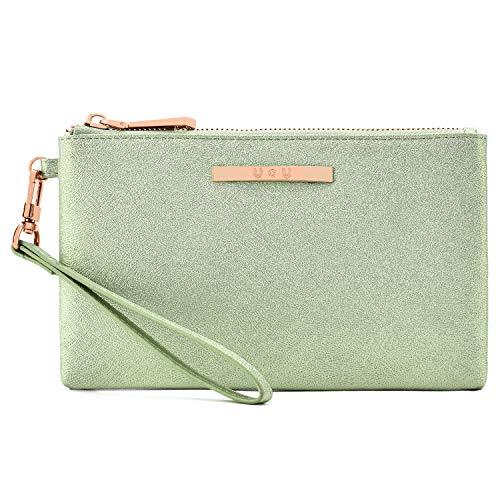 Leather Wristlet Lightweight Wallet U+U Cellphone Purse Clutch Soft Ladies Handbag