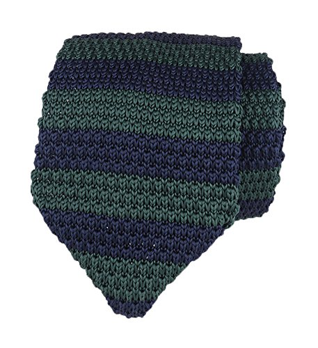 Men Vintage Ugly Navy Blue Green Tie Knitting Narrow Necktie for Adults Day Gift