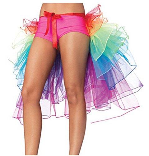 arc Multicolore Filles Effervescence en ruch Arc Jupe organza en Femmes ciel en Soire couches dentelle Danse Tutu ciel 01qnx6wFg