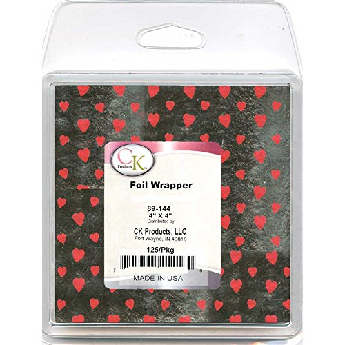 Foil Lined Heart - CK Products Candy Foil Wrappers, 4