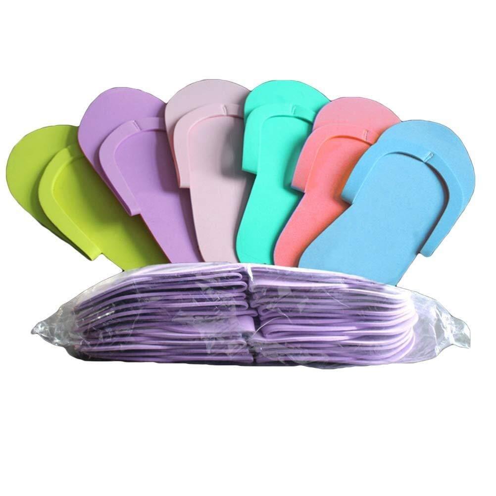 Lcjtaifu Zapatillas de Casa Zapatillas de Espuma Una Vez de 36 Pares Chanclas de pedicura Zapatillas de SPA for u/ñas Salon Color Aleatorio