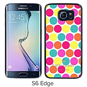 Unique And Beautiful Designed Kate Spade Cover Case For Samsung Galaxy S6 Edge Black Phone Case 175