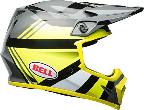 Bell MX-9 MIPS Off-Road Motorcycle Helmet (Gloss Hi-Viz Yellow/Black Marauder, - Racing Bell