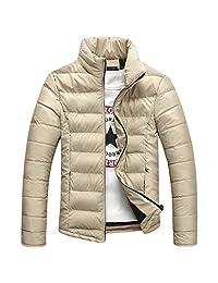 Ellove Fashion Breathable Slim Fit Parka Outerwear Zipper Puffer Jacket Men Coat