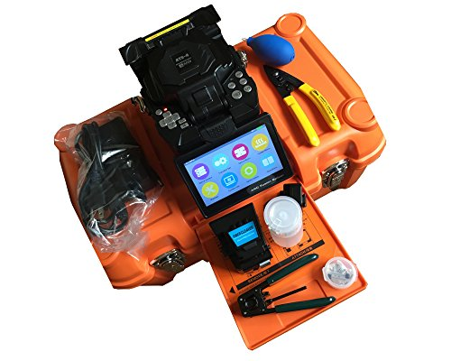 Price comparison product image Full featured fiber optical fusion splicer 3s fast boot 7s quick splicing industrial CPU user friendly GUI operation menu Touch screen & key board combination 4 motor splicing machine ATS-4