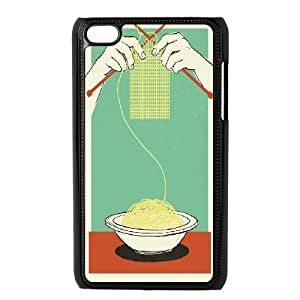 Eat Noodles and Knit at the Same Time Ipod Touch 4 Case, Kweet - Black