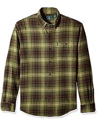 Men's Long Sleeve Fireside Plaid Flannel Shirt