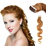 Yotty Hair Extensions Tape-in Skin Weft Seamless Remy Human Hair Body Wavy 20'' (20''20Pcs, #27)