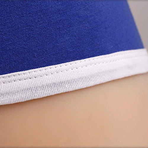 Slip Intimo Uomo Blu Navy Stile Boxer In Cotone Traspirante Tronchi Pantaloncini Panty Mutandine Rosso Minzhi