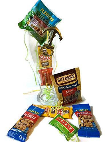 Beer Glass Gift Basket Sweet & salty Snacks & Giant Pilsner Beer Glass ( Holds 5 Beers) with Anchor Shaped Beer bottle opener Gift Basket (Beer Gift Basket Ideas)