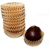 Kraft Chocolate Paper Candy Cups No.4 - 1''x3/4'' - Natural Kraft - 200pcs