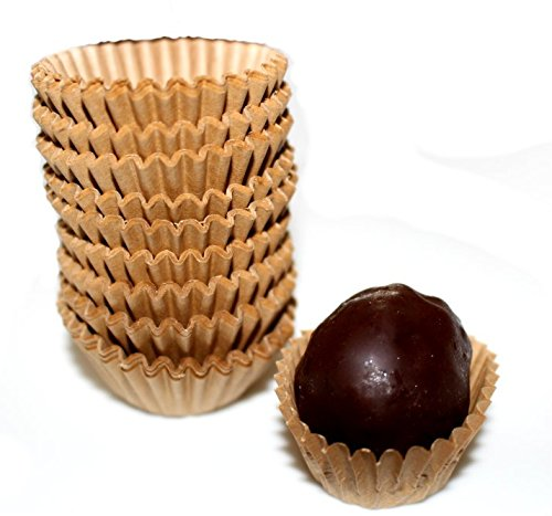 Kraft Beige Chocolate Paper Candy Cups No.4-1''x3/4'' - Natural Beige Kraft - 200pcs