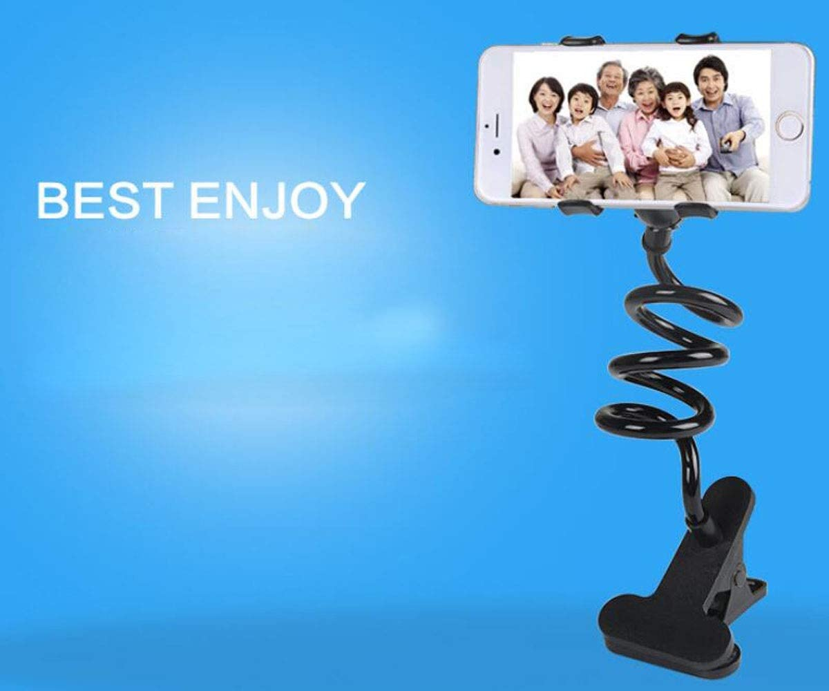 360 Degree Rotating Mobile Phone Holder Lazy Watching Movie Mobile Phone Bracket Universal Mobile Phone Stand Multi-Functional Dormitory Play Games Color : White, Size : B