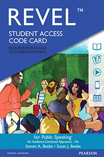 134401441 - REVEL for Public Speaking: An Audience-Centered Approach -- Access Card (10th Edition)
