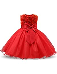 girl sleeveless lace 3d flower tutu holiday princess dresses