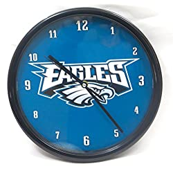 Philadelphia Eagles Wall Clock. Ideal 15'' Dia Size for home and office decor.
