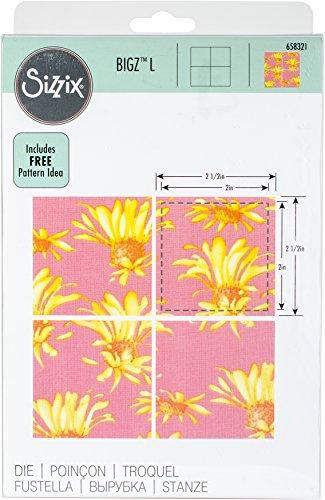 Sizzix 15 Bigz Dies Fabi Edition Squares L Die, - 2.5 Die Cut