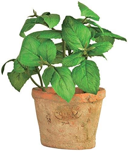 Esschert Design Artificial Herb Plant, Basil, Small