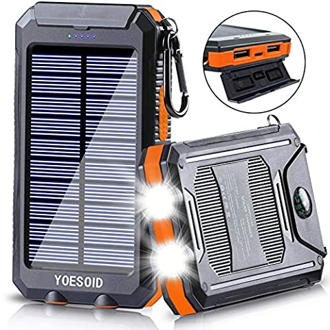 Solar Charger 20000mAh YOESOID Portable Solar Power... - Sale: $18.39 USD (20% off)