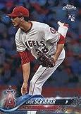 2018 Topps Chrome #164 Troy Scribner Los Angeles Angels Rookie Baseball Card - GOTBASEBALLCARDS