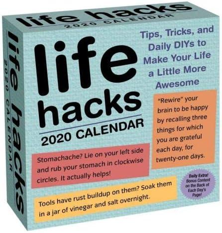 Amazon.com: 2020 Life Hacks 365 Page-A-day Daily Box/Desk Calendar