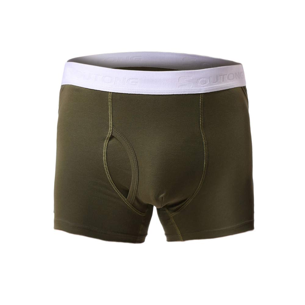 LUNIWEI Boxer for Men Summer Elastic Shorts Knickers Underpants Soft Underwear Shorts Boxer Brief Army Green