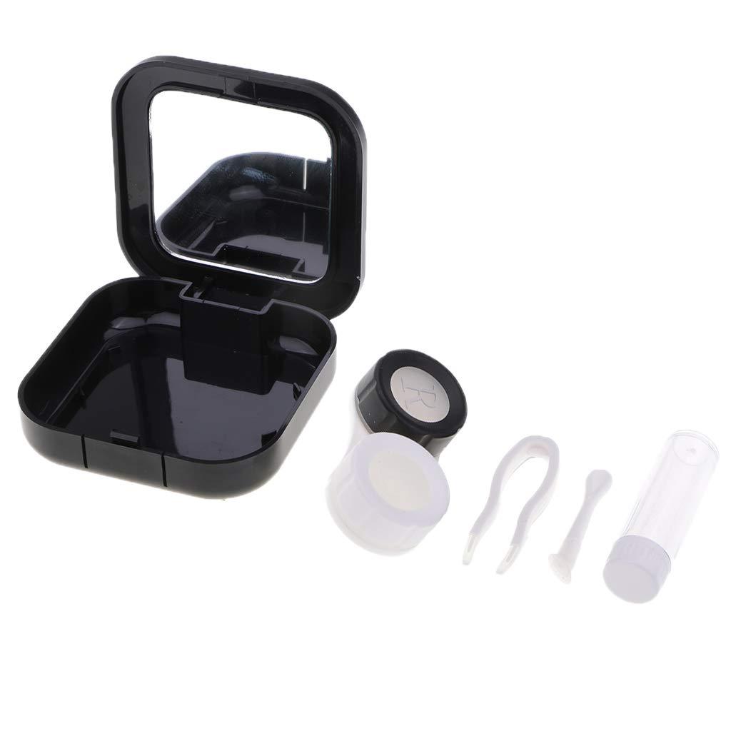 Sharplace 1 Pieza Caja para Guardar Lentillas con Pinzas Almacenamiento Belleza Viaje