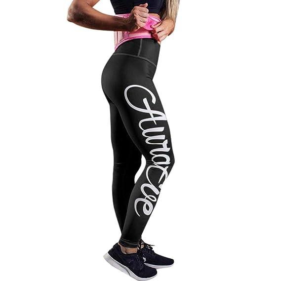 ❤ Pantalones atléticos de Yoga para Mujeres Impresión de ...