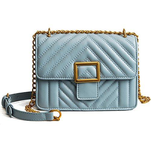 De La Hombro blue Entramado Bolso De Bolsos Bolsas Woman Khaki del Sra La Cadena incense Diagonal De qAxz11g