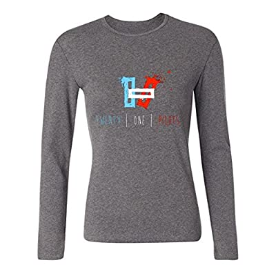 MINNRI Women's Twenty One Pilots Long Sleeve T-shirt Grey S