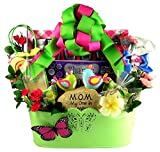 Mother's Day Spring Sensations - The BEST Mother's Day Gift Basket for Mom, Features A Metal Spring Themed Planter and Lots of Gourmet Goodies For Mom