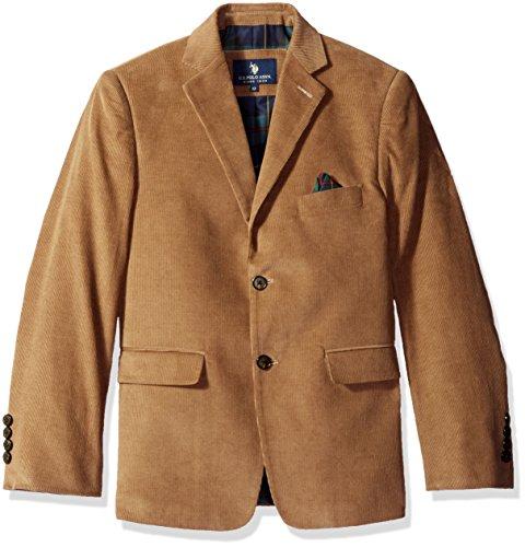 U.S. POLO ASSN. Boys' Sport Coat, CDM1011J-Corduroy-Wheat, (Boys Corduroy Blazer)