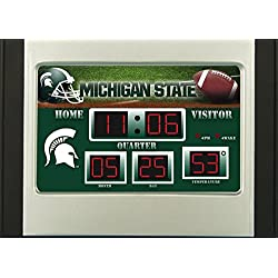 Evergreen NCAA Michigan State Spartans Desk and Alarm, Team Colors, One Size
