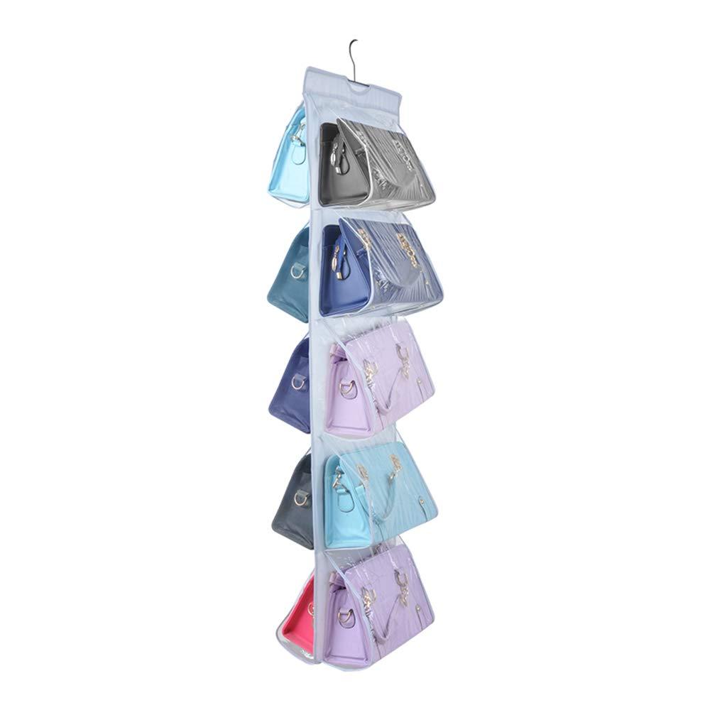 geeignet f/ür Taschen zum Aufh/ängen im Kleiderschrank klar Schlafzimmer f/ür Wohnzimmer Platz sparend Zebricolo Speicher Handtasche Organiser Aufbewahrungssystem,4 F/ächer zur besseren Organisation