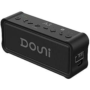 Douni A3 Portable Wireless Outdoor Bluetooth Waterproof Speaker IPX7 Water Resistant Dustproof 20W Shower Speaker ,Built-in Mic,DSP Enhanced Bass ,TF Card,Power Bank NFC Long Playing Time