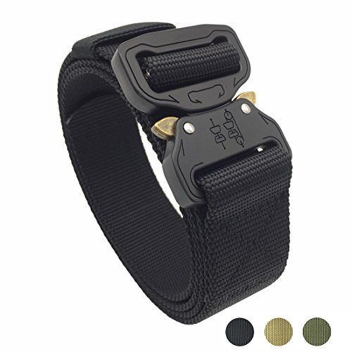 "Moonstone Tactical Belt 1.5 ""Nylon Military Style Riggers Cobra Belt with Heavy-Duty Quick-Release Metal Buckle"