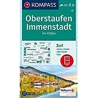 KOMPASS Wanderkarte Oberstaufen, Immenstadt im Allgäu: 3in1 Wanderkarte 1:25000 mit Aktiv Guide inklusive Karte zur offline Verwendung in der ... 1:25 000 (KOMPASS-Wanderkarten, Band 2)